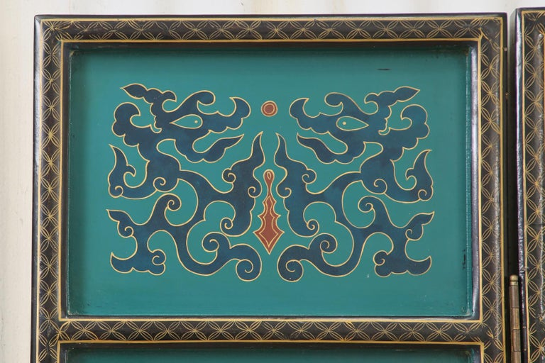 Chinese Export Lacquered Six Panel Coromandel Screen For Sale 5
