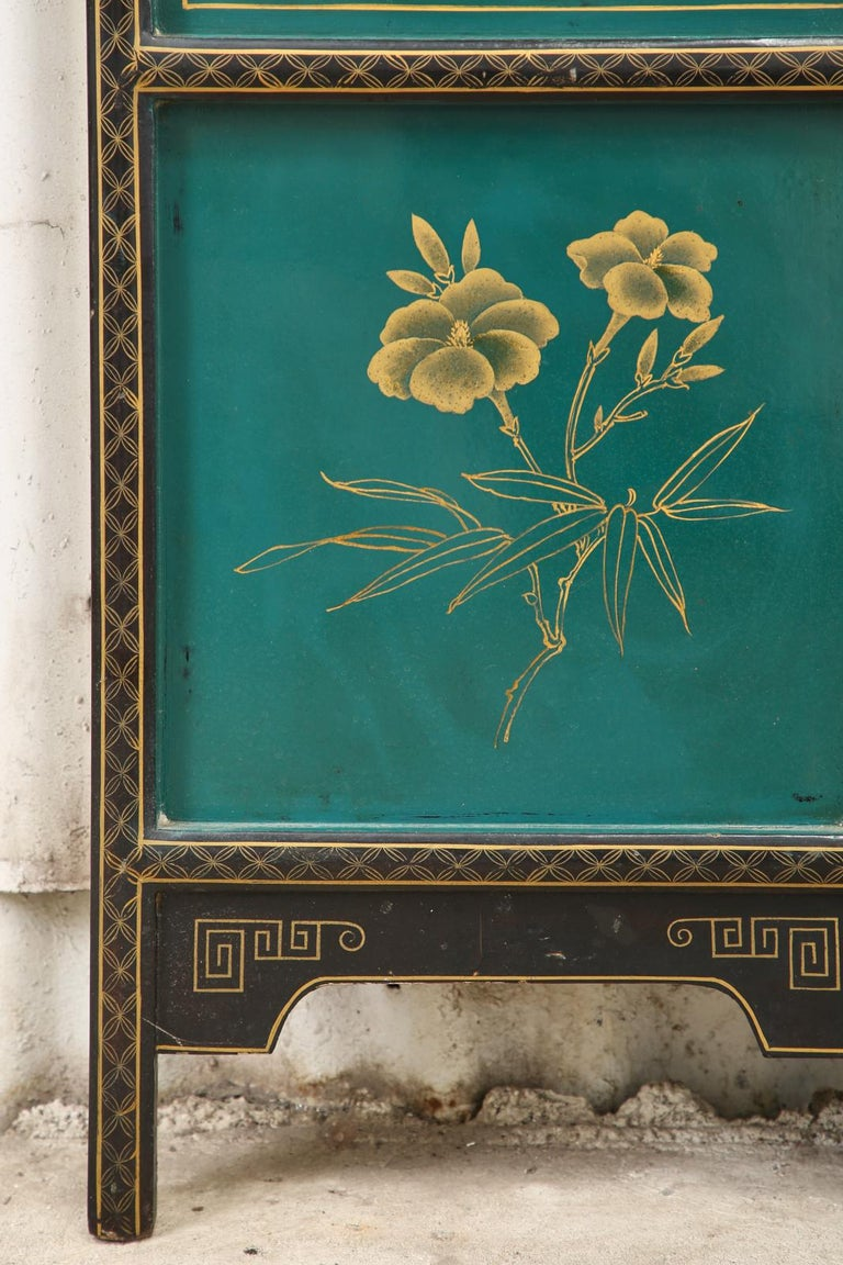 Chinese Export Lacquered Six Panel Coromandel Screen For Sale 6