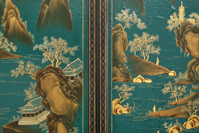 Chinese Export Lacquered Six Panel Coromandel Screen For Sale 10