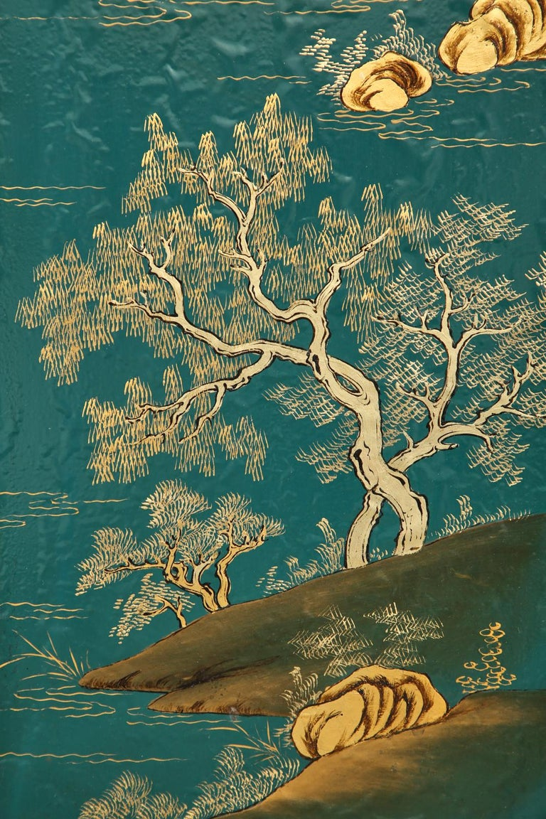 Chinese Export Lacquered Six Panel Coromandel Screen For Sale 11