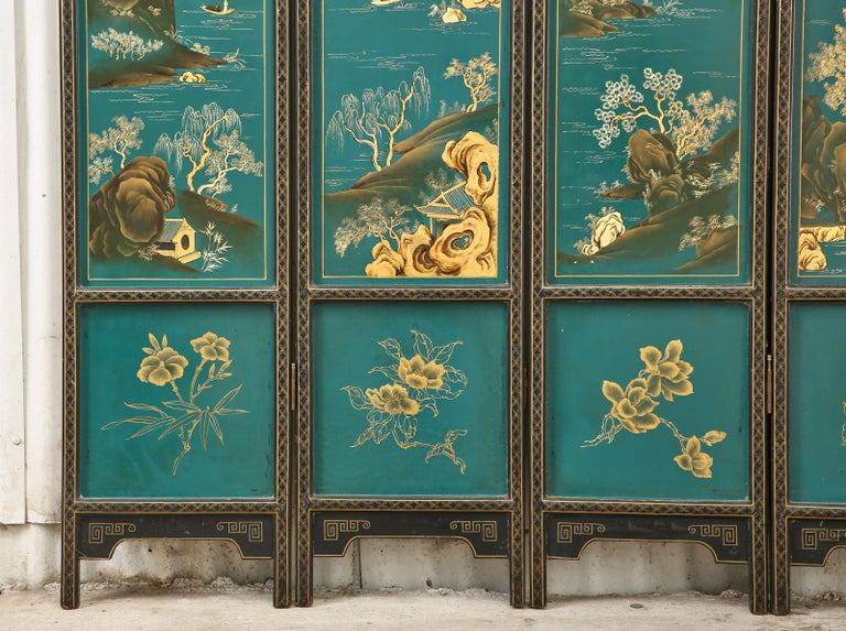 Chinese Export Lacquered Six Panel Coromandel Screen For Sale 1
