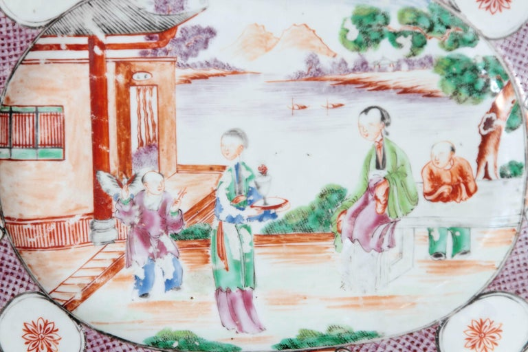 Chinese Export or Manderin Palette Platter For Sale 1
