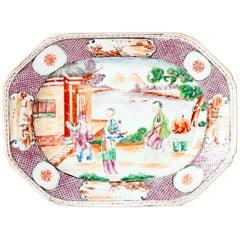 Chinese Export or Manderin Palette Platter