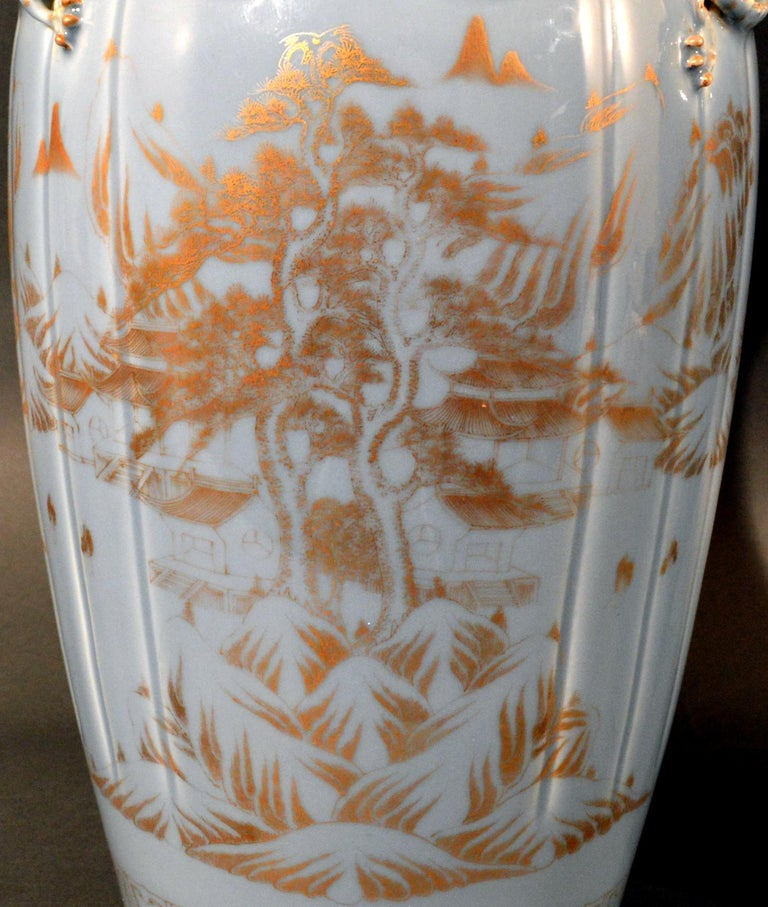 Chinese Export Porcelain Clare De Lune Blue Vases, Mid-19th Century For Sale 8