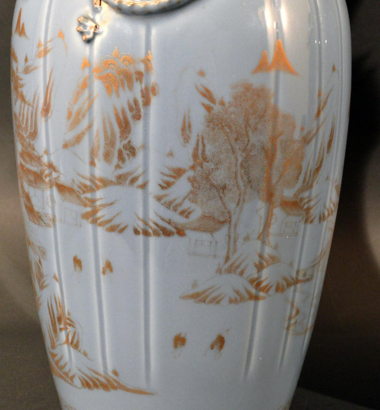 Chinese Export Porcelain Clare De Lune Blue Vases, Mid-19th Century For Sale 9