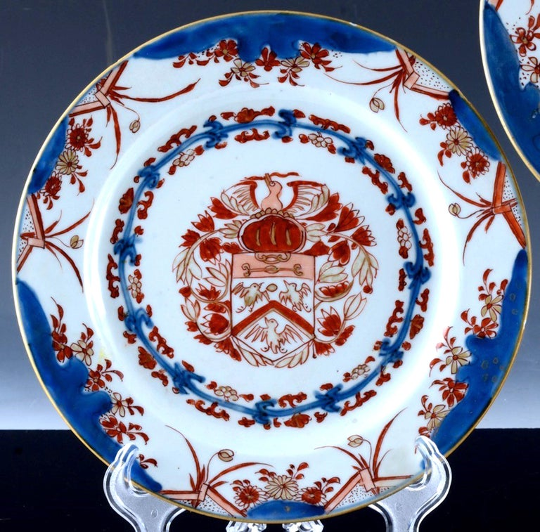 Chinese Export Porcelain Early Armorial Plates, Arms of Van Gellicum, Kangxi For Sale 6