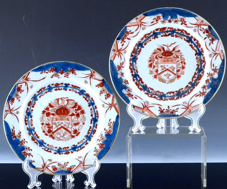 Chinese Export Porcelain Early Armorial Plates, Arms of Van Gellicum, Kangxi For Sale 7
