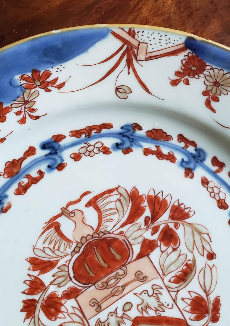 Chinese Export Porcelain Early Armorial Plates, Arms of Van Gellicum, Kangxi For Sale 1