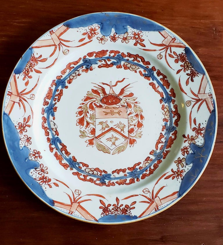 Chinese Export Porcelain Early Armorial Plates, Arms of Van Gellicum, Kangxi For Sale 3