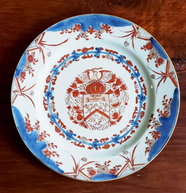 Chinese Export Porcelain Early Armorial Plates, Arms of Van Gellicum, Kangxi For Sale 4