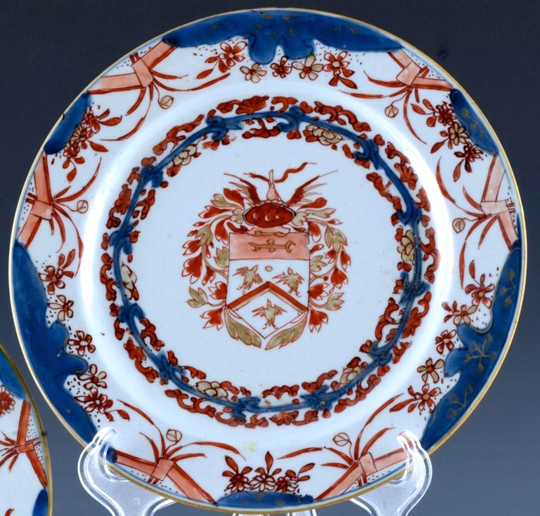Chinese Export Porcelain Early Armorial Plates, Arms of Van Gellicum, Kangxi For Sale 5