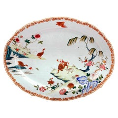 Chinese Export Porcelain Famille Rose Dish with Boy on Ox, circa 1750-1765