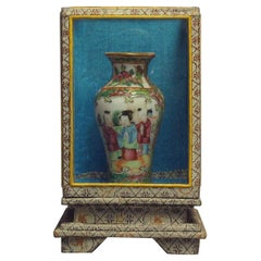 Chinese Export Porcelain Famille Rose Medallion Miniature Vase, 19th Century