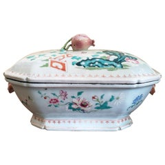Chinese Export Porcelain Famille Rose Tureen and Cover, circa 1750-1765