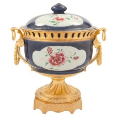 Chinese Export Porcelain & French 19th Century Louis XVI St. Ormolu Centerpiece