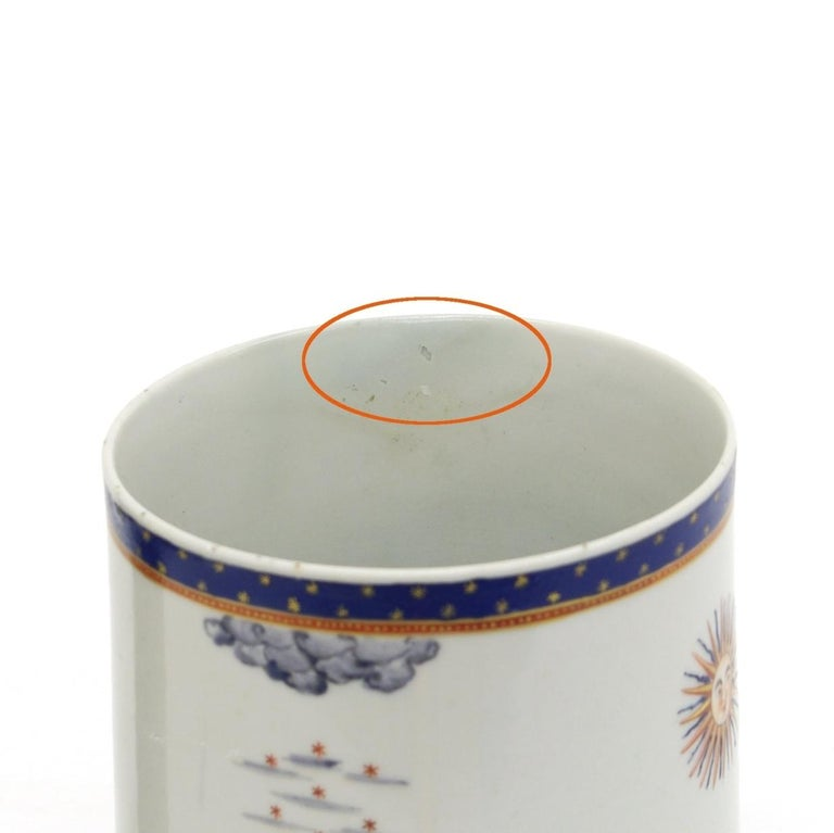Chinese Export Porcelain Masonic Mug, circa 1795 For Sale 2