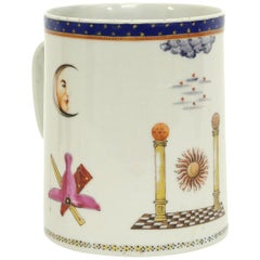 Chinese Export Porcelain Masonic Mug, circa 1795