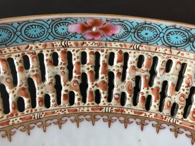 Other Chinese Export Porcelain Openwork Dish from the Qianlong Period For Sale
