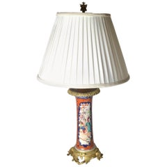 Chinese Export Porcelain Ormolu Mounted Lamp
