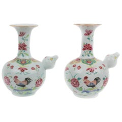 Chinese Export Porcelain Pair of Kendis, Qianlong, 1736-1795