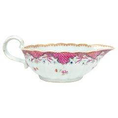 Chinese Export Porcelain Saucer Boat, Qianlong, '1736-1795'