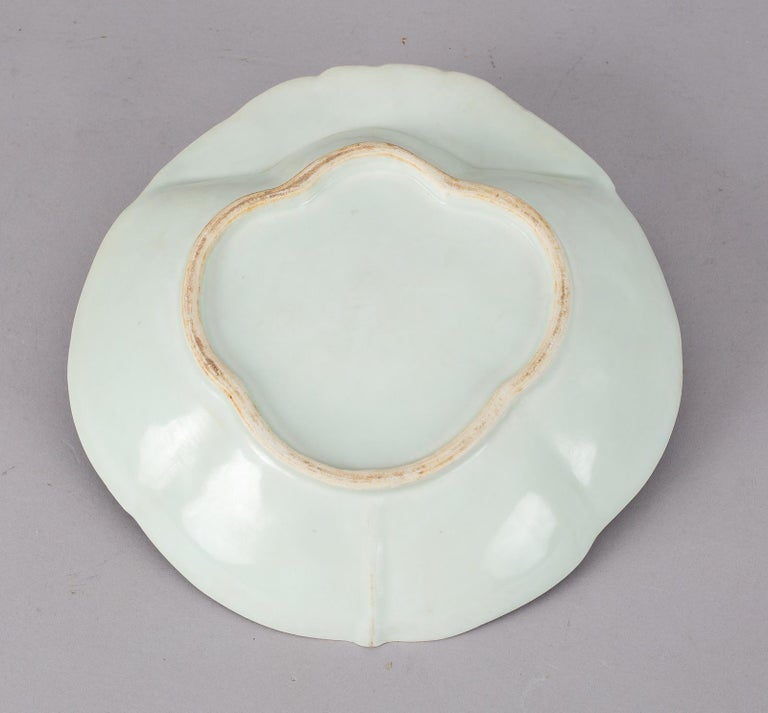 Glazed Chinese Export Porcelain Shrimp Dish For Sale