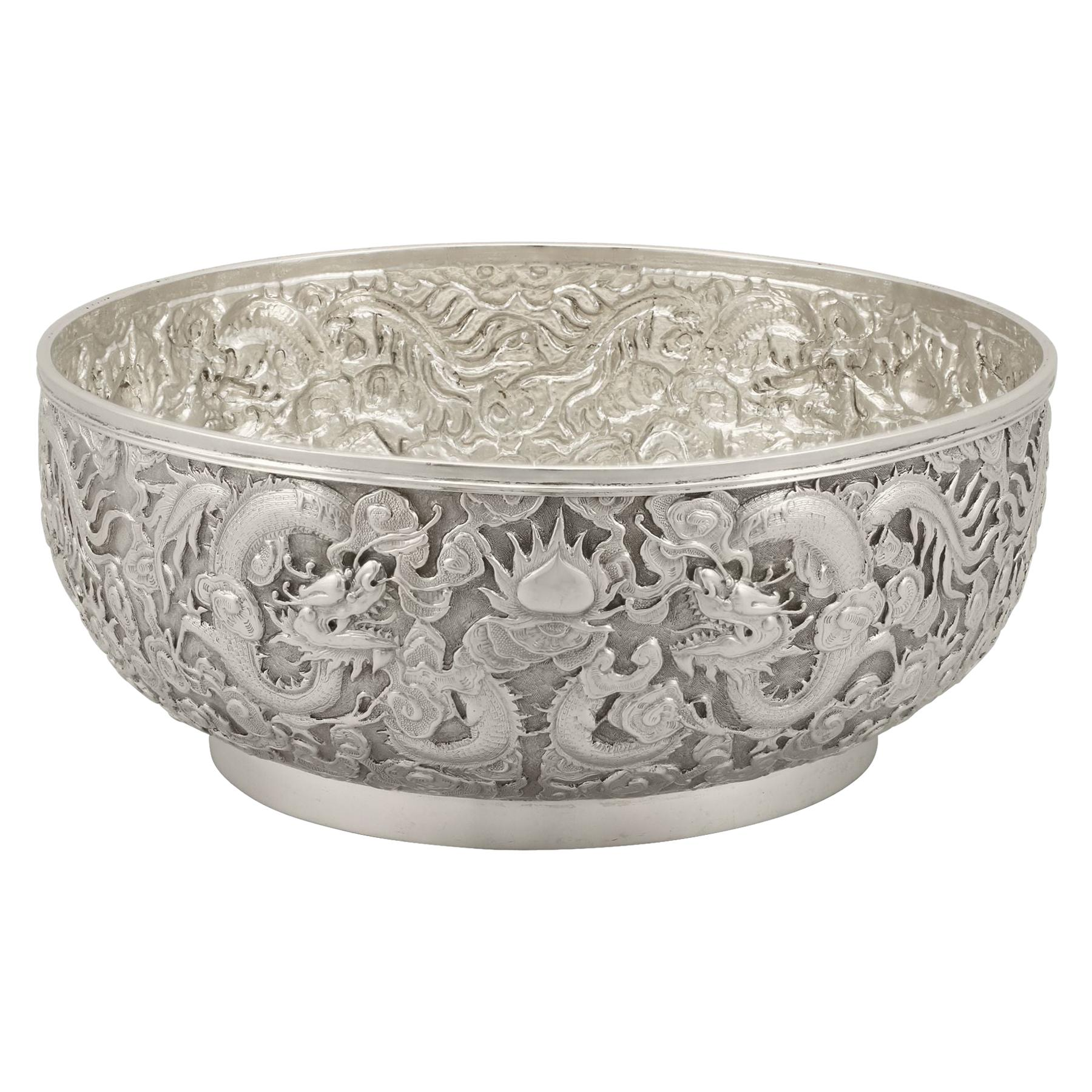 20th Century Chinese Export Silver Bowl Antique Circa 1900