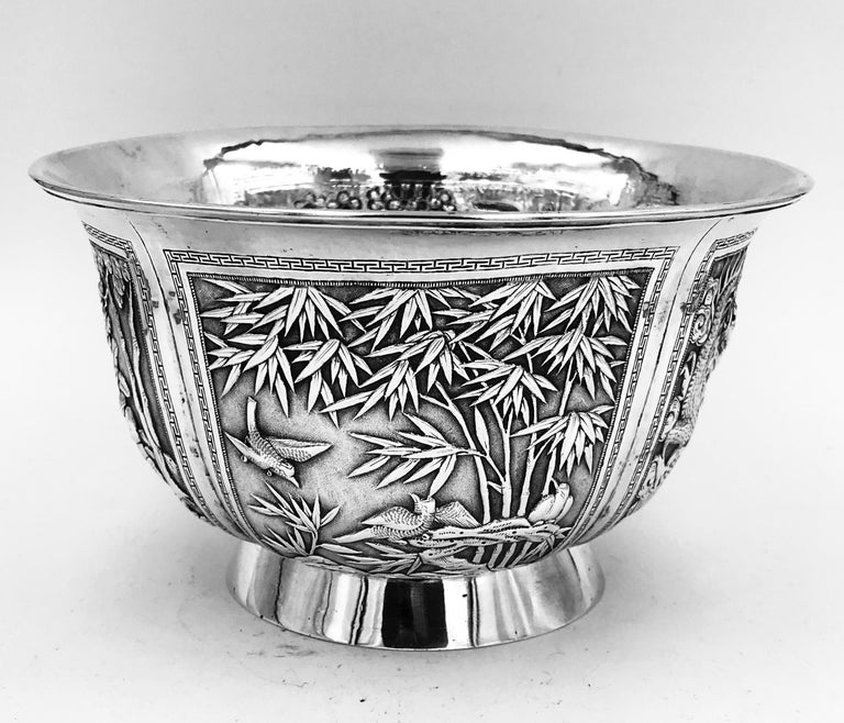 Chinese Export Silver Bowl In Good Condition For Sale In London, GB