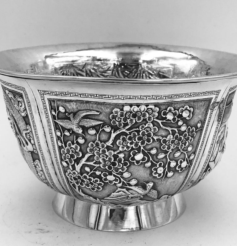 Chinese Export Silver Bowl For Sale 1