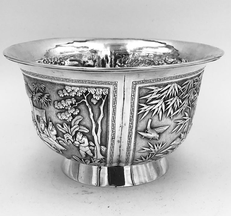 Chinese Export Silver Bowl For Sale 2