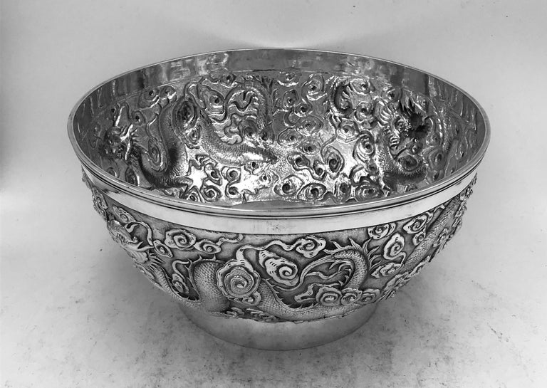 Chinese Export Silver Bowl For Sale 5