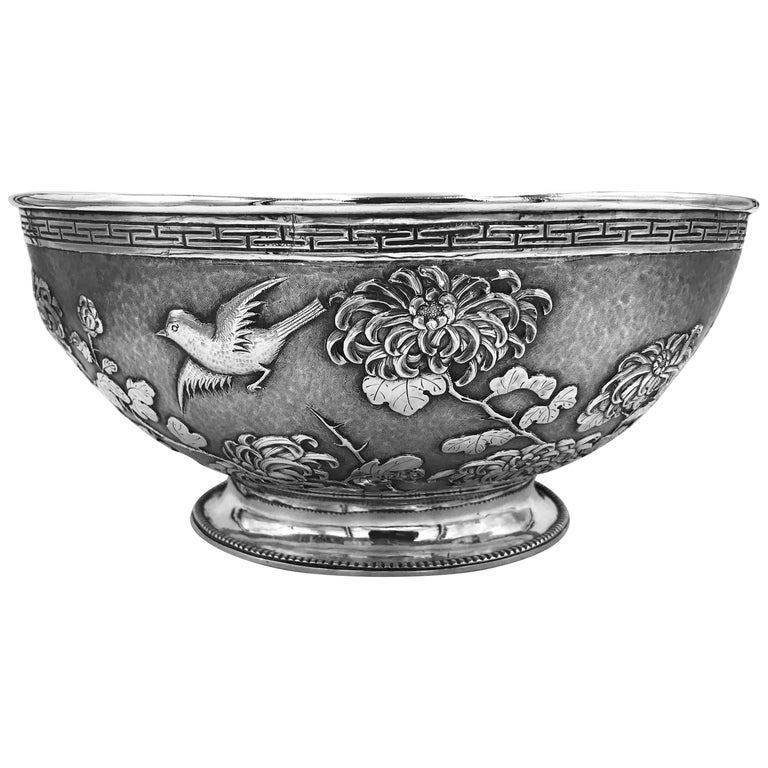 Chinese Export Silver Bowl For Sale