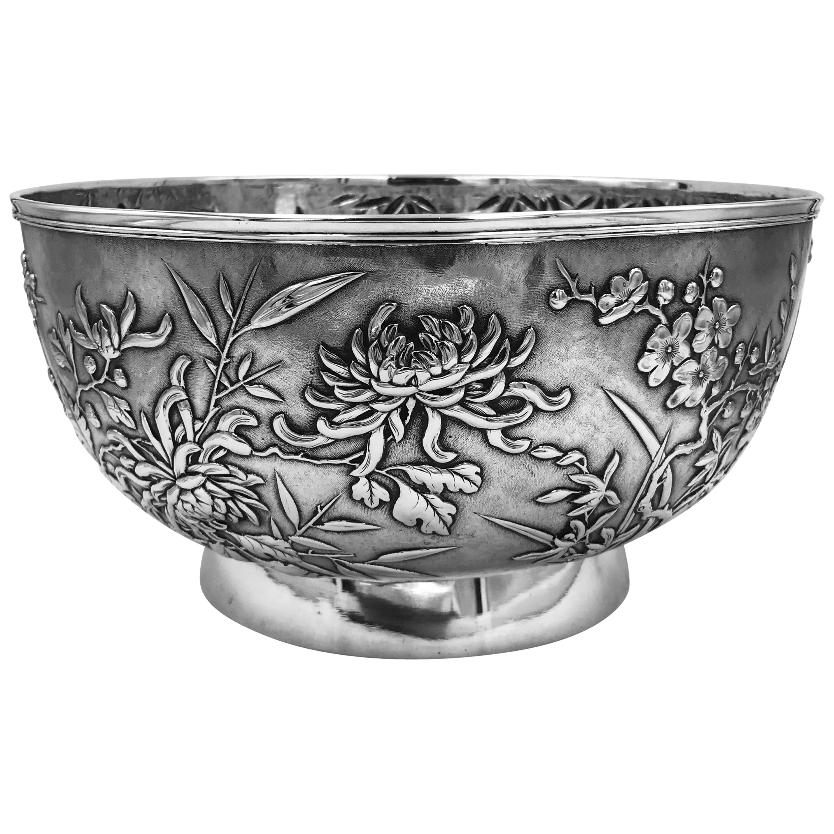Chinese Export Silver Bowl