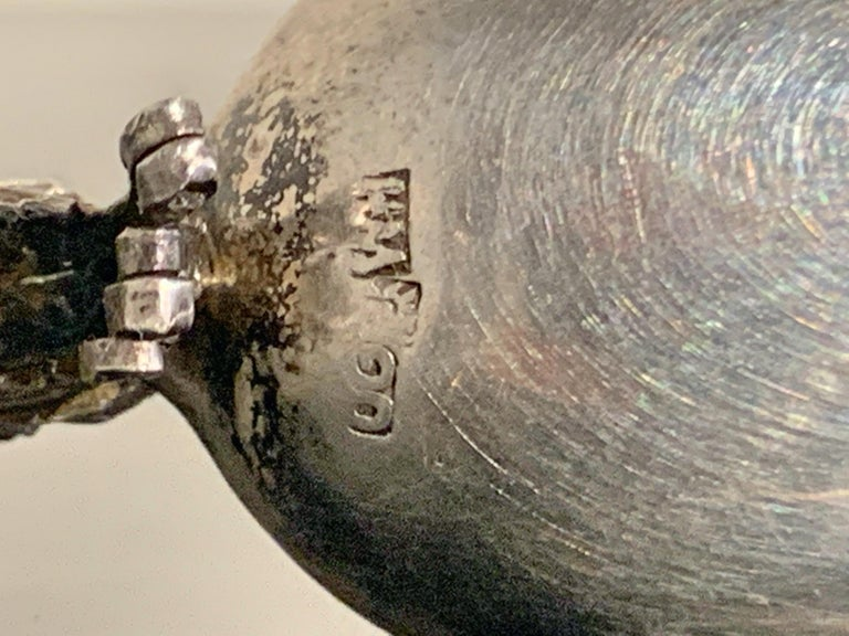 Chinese Export Silver Dragon Spoon by Wang Hing & Co., Late 19th Century For Sale 7