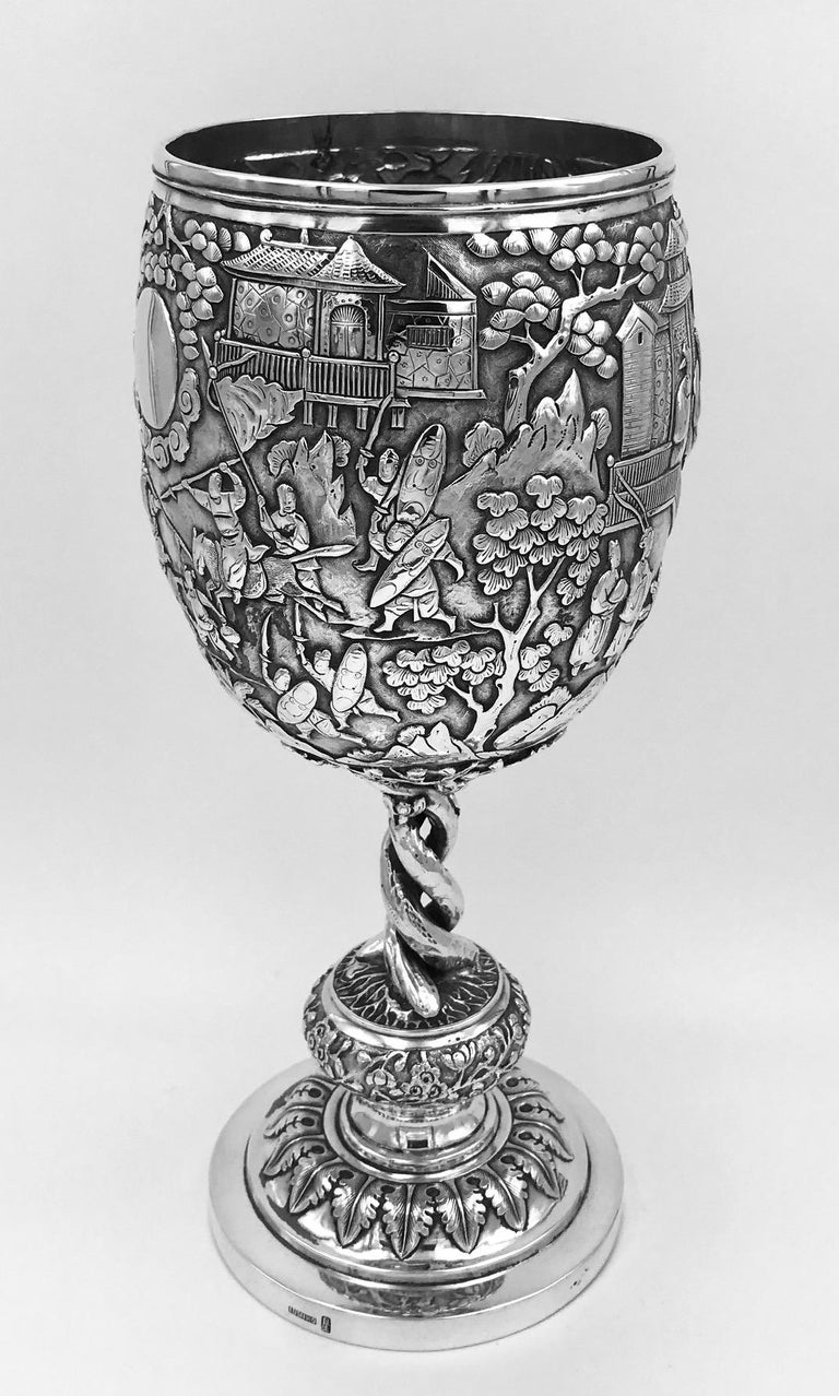 Other Chinese Export Silver Goblet For Sale