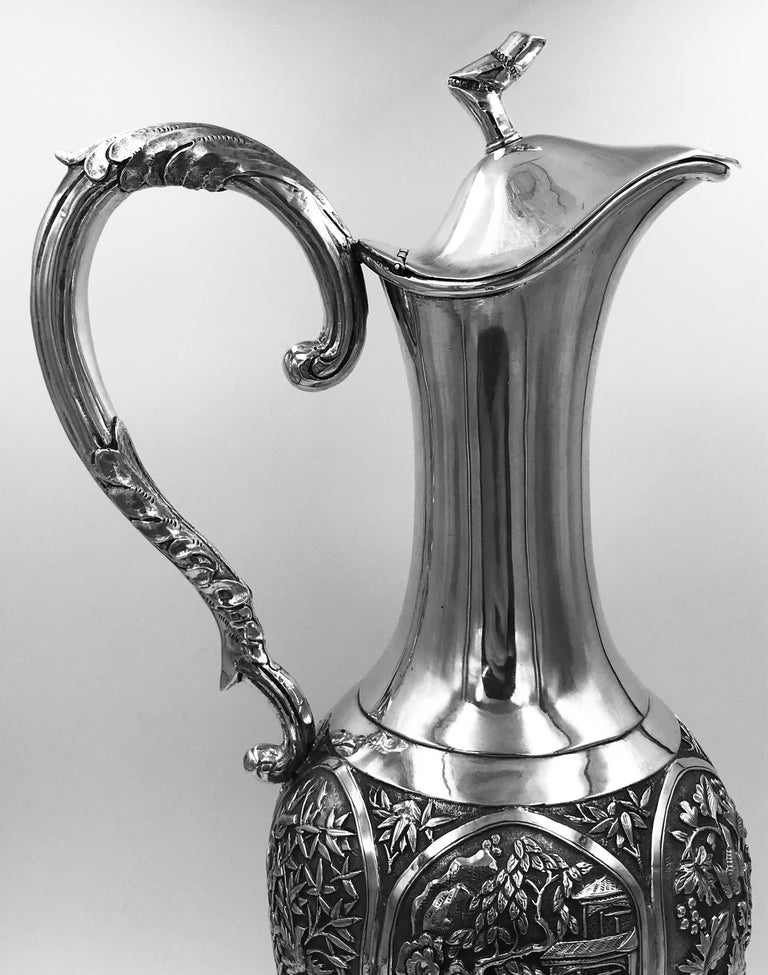 Chinese Export Silver Jug For Sale 8