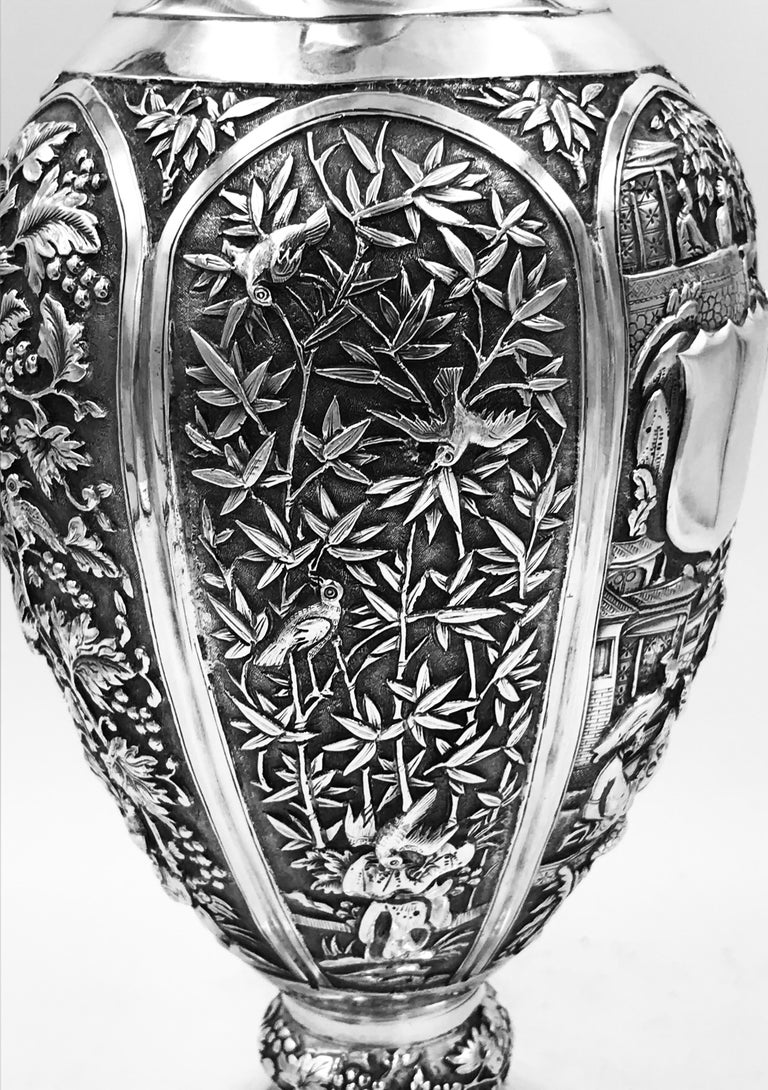 Chinese Export Silver Jug For Sale 3