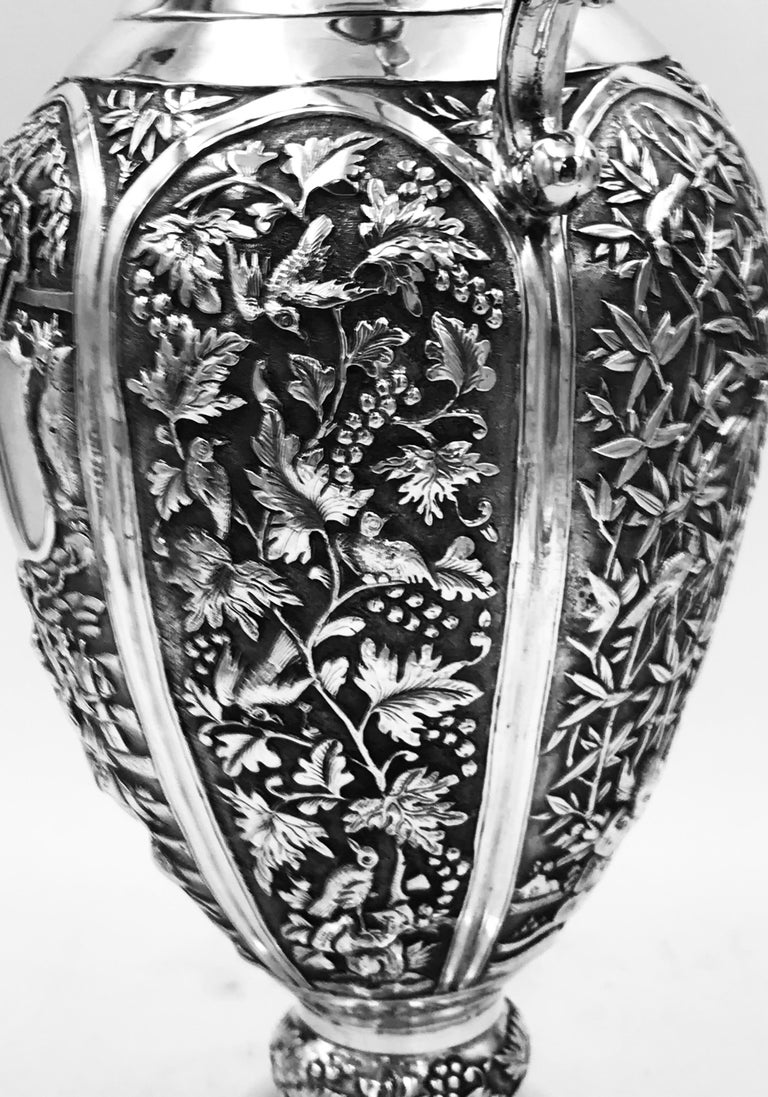 Chinese Export Silver Jug For Sale 5