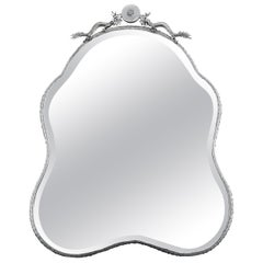 Chinese Export Silver Mirror