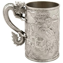 Chinese Export Silver Mug, Antique, circa 1900