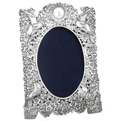 Chinese Export Silver Photo Frame