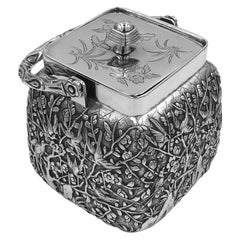 Chinese Export Silver Preserve Jar
