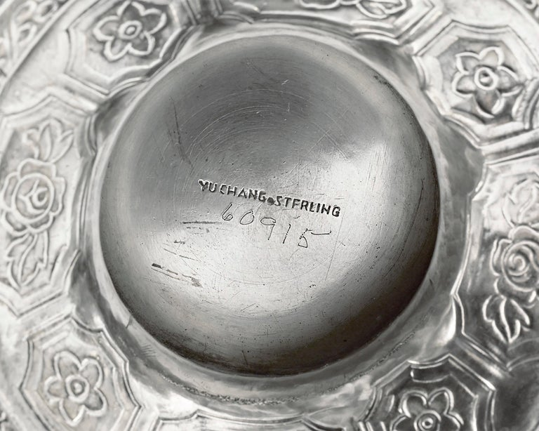 19th Century Chinese Export Silver Tea and Coffee Service For Sale