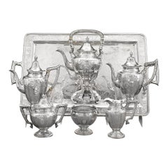 Chinese Export Silver Tea and Coffee Service