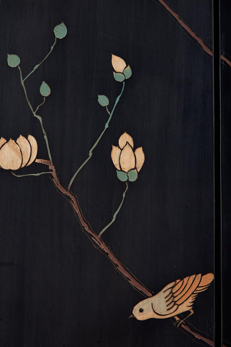 Chinese Export Six-Panel Lacquered Coromandel Screen 14