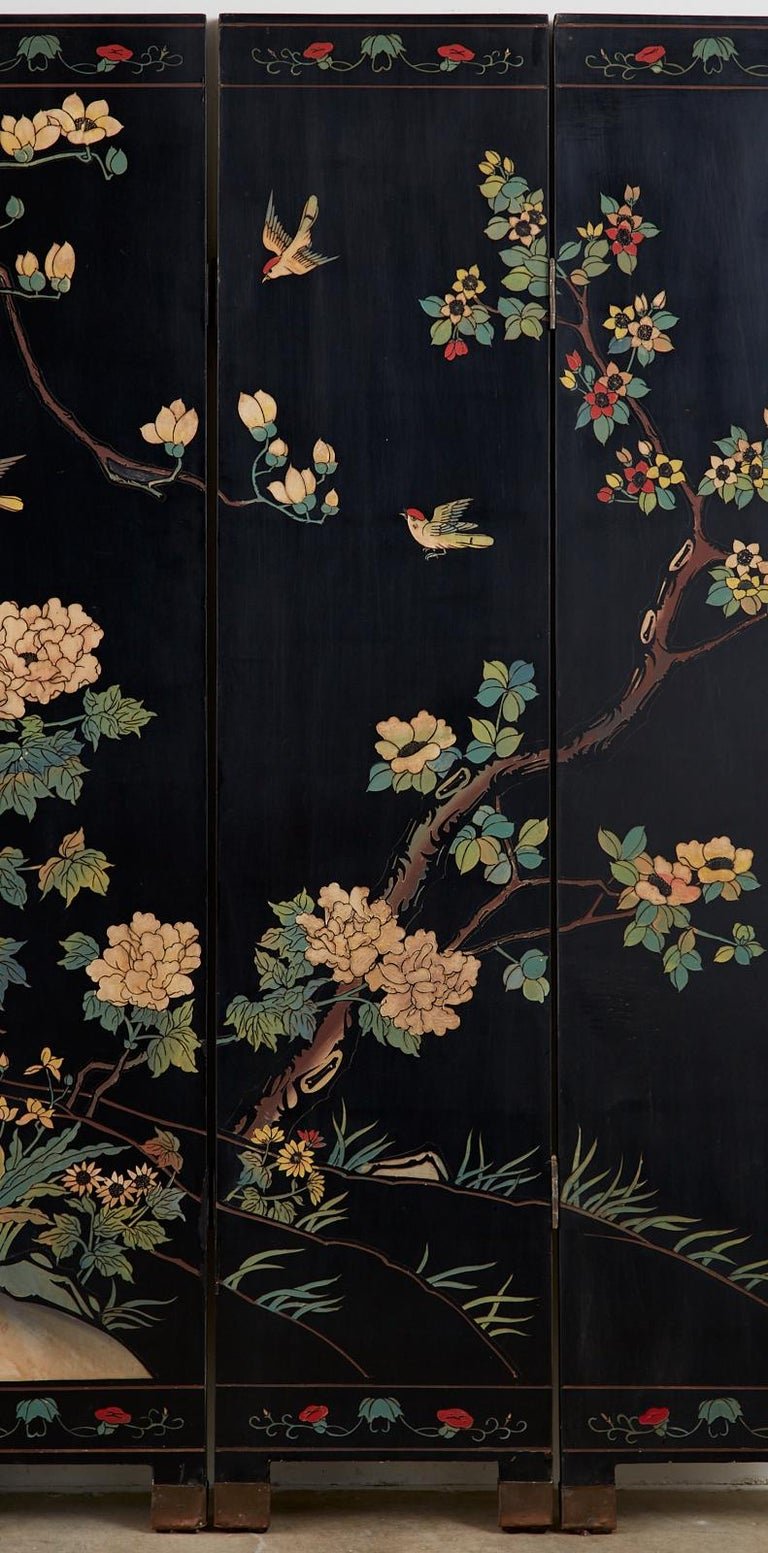 Chinese Export Six-Panel Lacquered Coromandel Screen 1