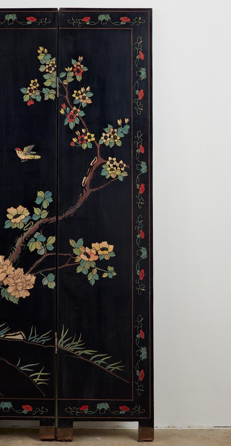 Chinese Export Six-Panel Lacquered Coromandel Screen 2