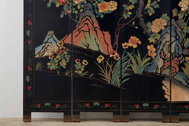 Chinese Export Six-Panel Lacquered Coromandel Screen 3
