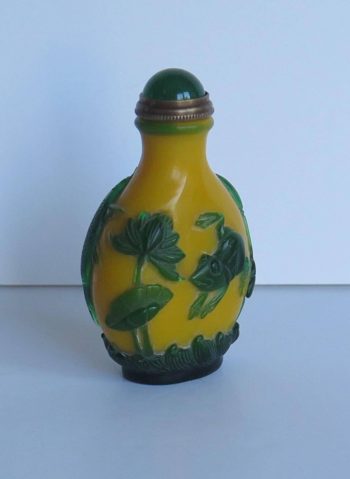 Chinese RARE Wood Carving Snuff Bottle Base Decoration