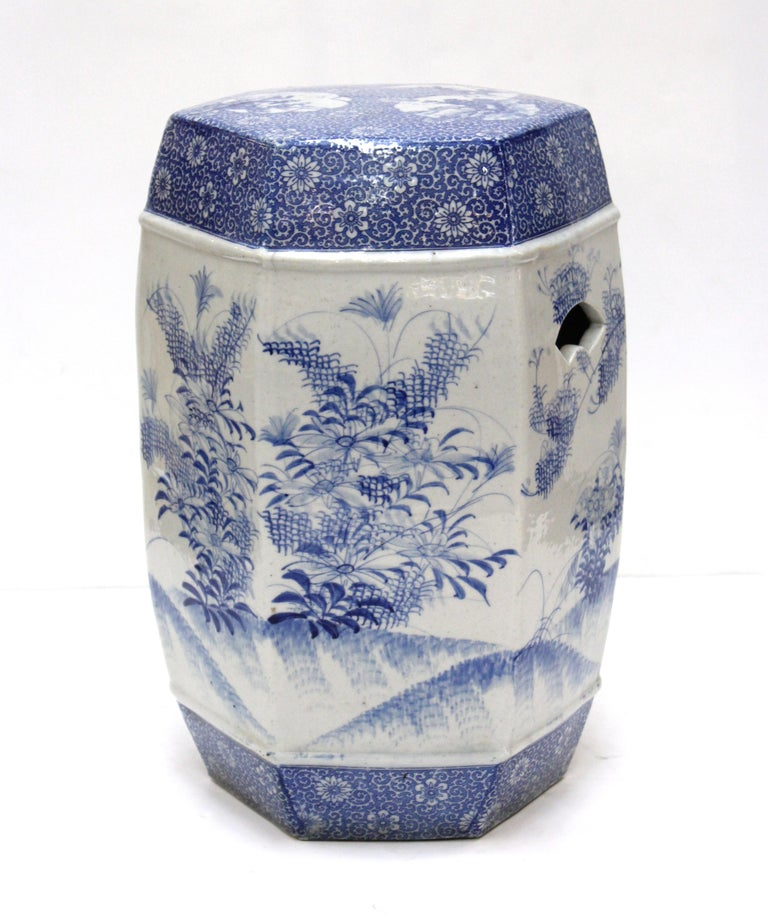 Chinese Export Style Ceramic Garden Stool In Good Condition For Sale In New York, NY